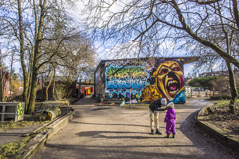 christiania denmark graffiti